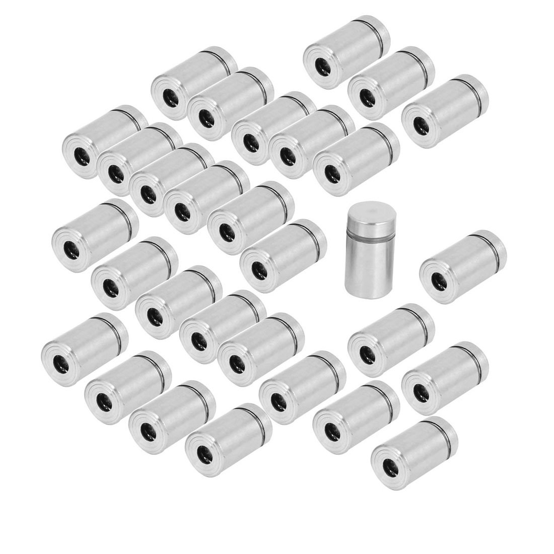 Uxcell a15041500ux0339 Advertisement Fixing Screws Glass Standoff Pins 12mmx20mm Pack of 30