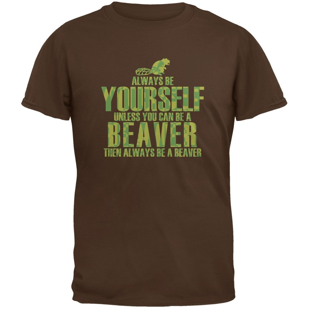 Always Be Yourself Beaver Brown Youth T-Shirt Animal World AW028913