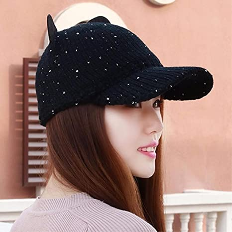 RangYR Sombrero De Mujer Sra. Cap Sombrero De Punto De Otoño E Invierno  Gorra De f9cae470cce