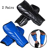 2 Pairs Soccer Shin Guards for Adults and...