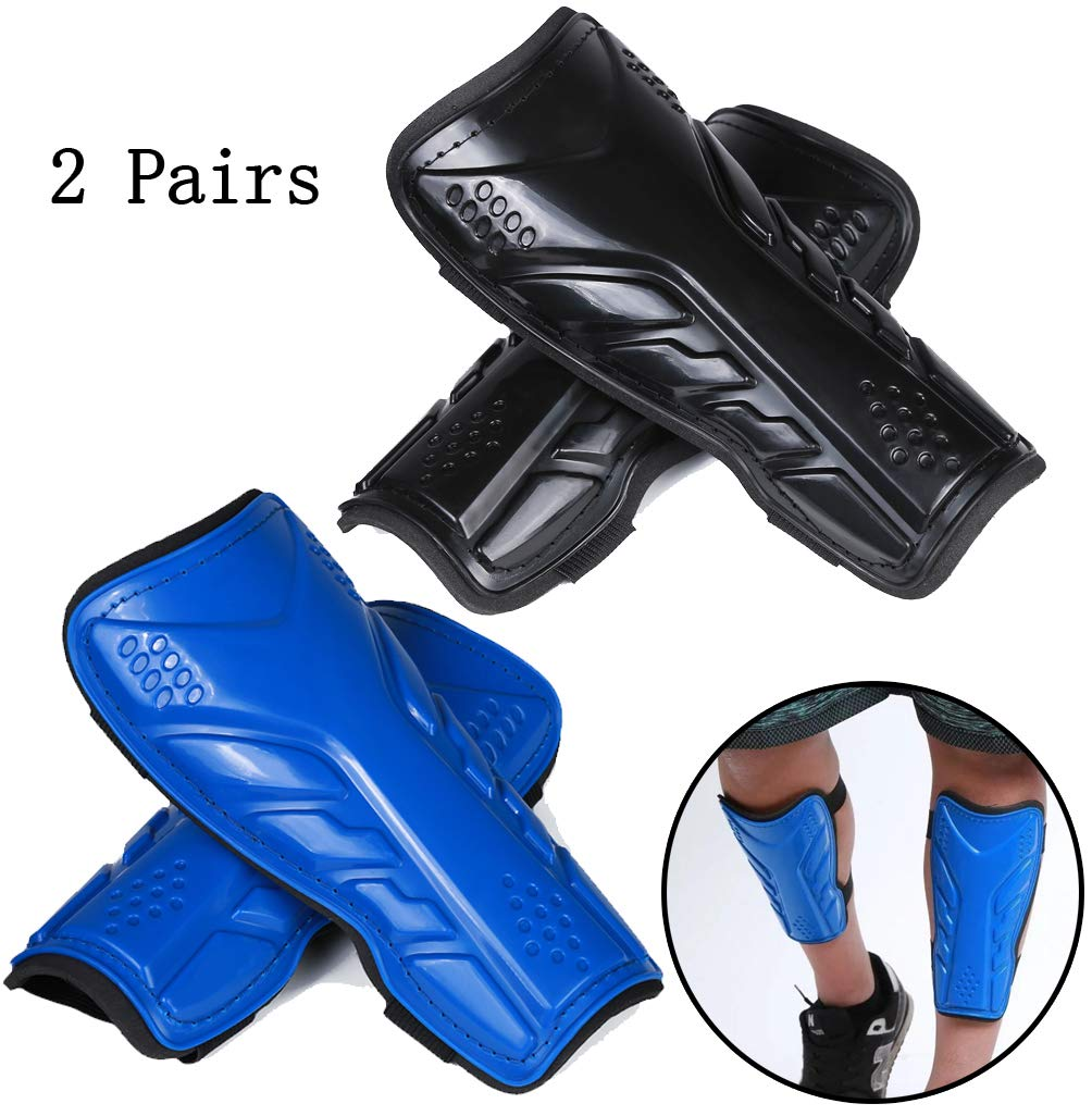 1d1208f062d4 2 Pairs Soccer Shin Guards for Adults and Youths