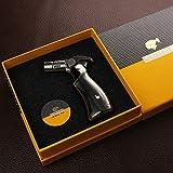 COHIBA/喫煙具/葉巻/シガーライター/COHIBA Black Metal Gun 4 Torch Jet Flame Cigar Cigarette Lighter W/Gift Box