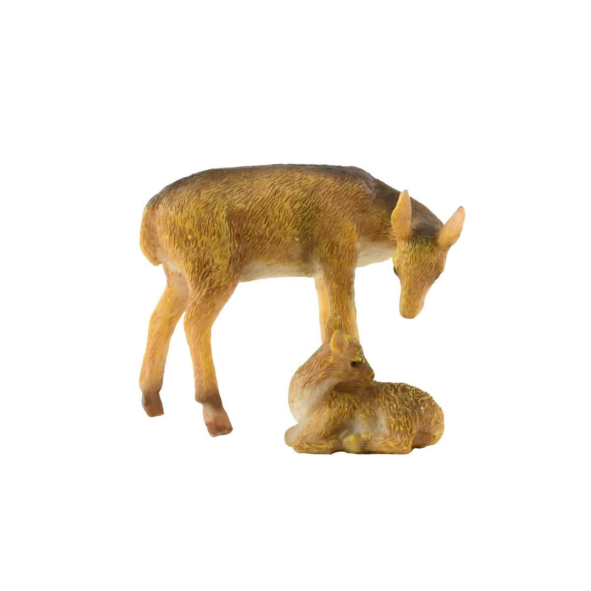 TG,LLC Miniature Deer Fawn Figurine Outdoor Fairy Garden Decor Dollhouse Landscape Supply