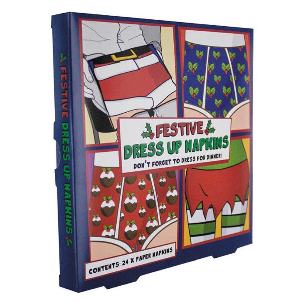 Multi-Colour Paper 0.25 x 17 x 17 cm Paladone Festive Dress Up Napkins