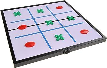 Quantum Abacus Juego de Mesa magnético (tamaño Compacto de Viaje): Tres en línea - Piezas magnéticas, Tablero Plegable, 19cm x 19cm x 1cm, Mod. SC6633 (DE): Amazon.es: Juguetes y juegos