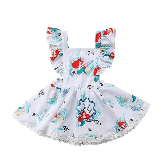 Amazon.com: Vestido de sirena para bebé y niña, con mangas ...