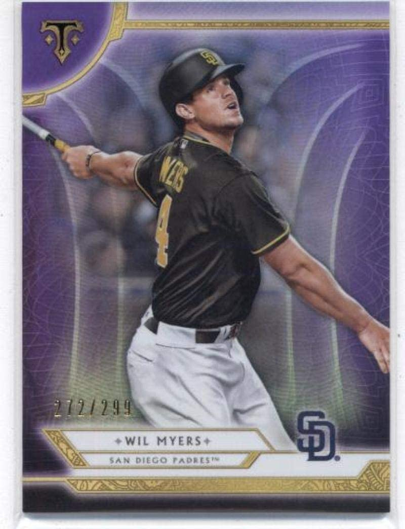 2018 Topps Triple Threads Amethyst//299 #38 Wil Myers San Diego Padres Card