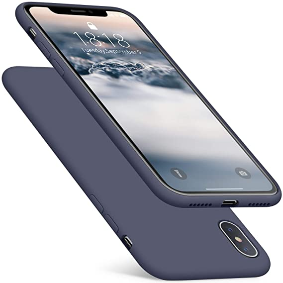 half off 1ef67 badb1 DTTO Case for iPhone Xs,[Romance Series] Silicone Case with Hybrid  Protection for Apple iPhone Xs (2018), Also Compatible with iPhone X (2017)  5.8 ...