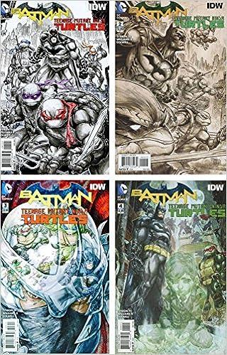 Amazon.com: Batman Teenage Mutant Ninja Turtles Issue 1-4 (4 ...
