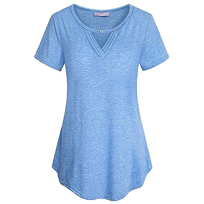 T Shirt Batiken Eigenschaften | Seworld Damen Sommer Mode Solide Ubergrosse Plissee Kurzarm V