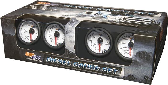 2400F EGT Pyrometer Diesel Gauge Set GlowShift 52mm White 7 Color 60psi Boost