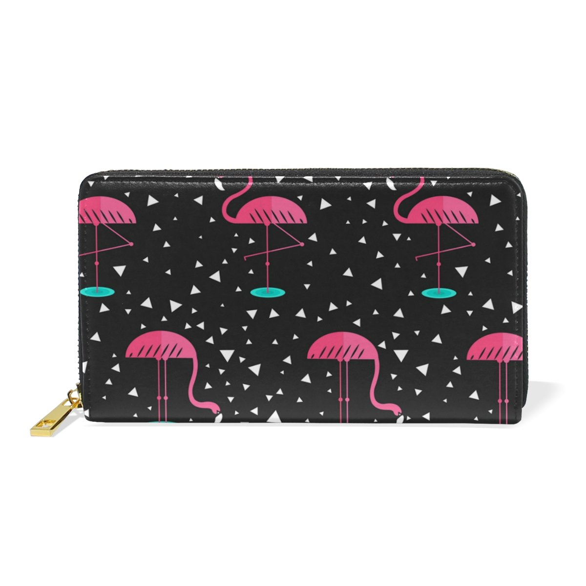 LAVOVO Flamingo Pattern Womens Clutch Purses Organizer And Handbags Zip Around Wallet