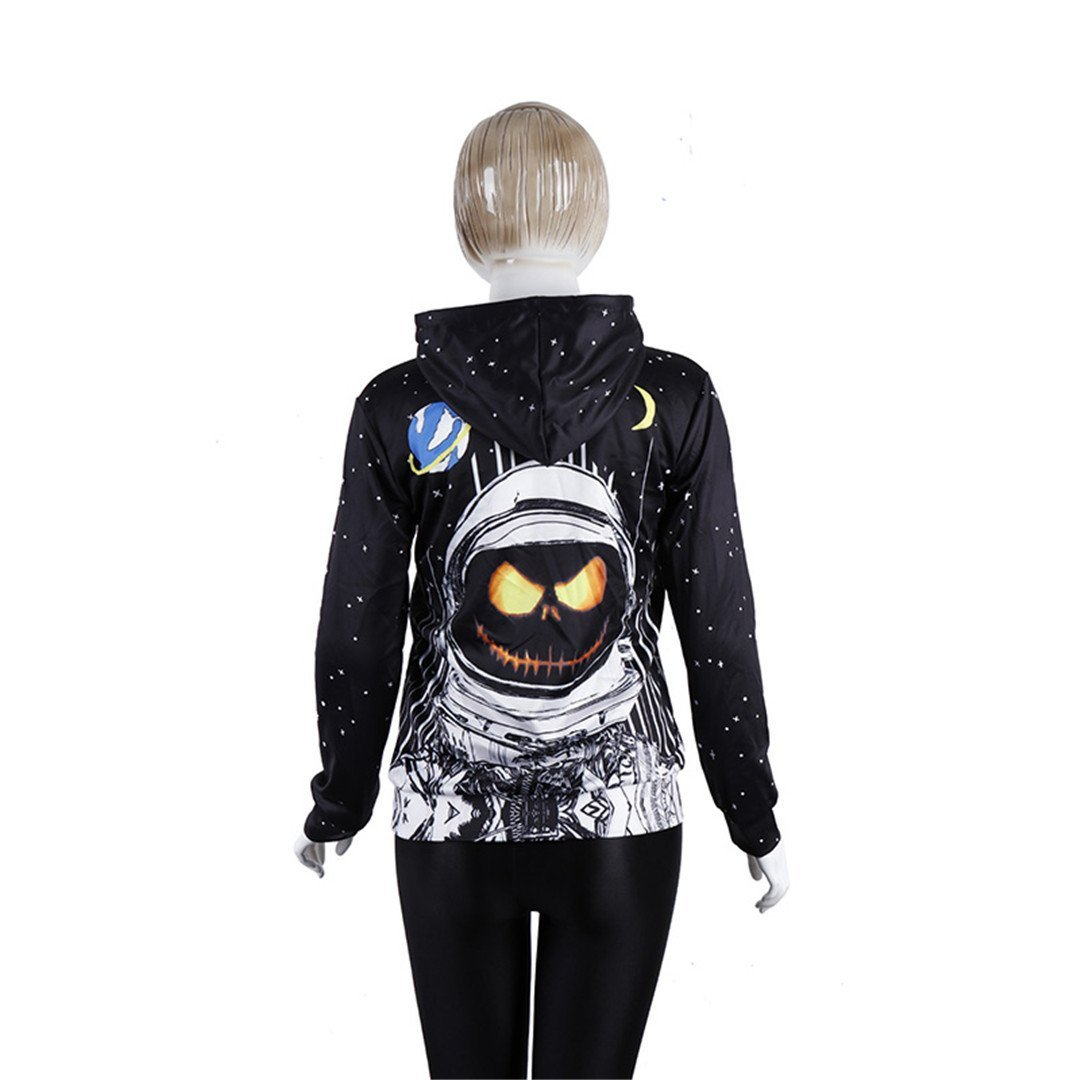 Amazon.com: 3D Hoodie Halloween Pumpkin Astronaut Ladies Men Sweatshirt: Clothing
