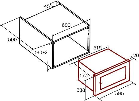 Cata WH Encastrable | Modelo MC 25 GTC| Con capacidad de 25 Litros ...