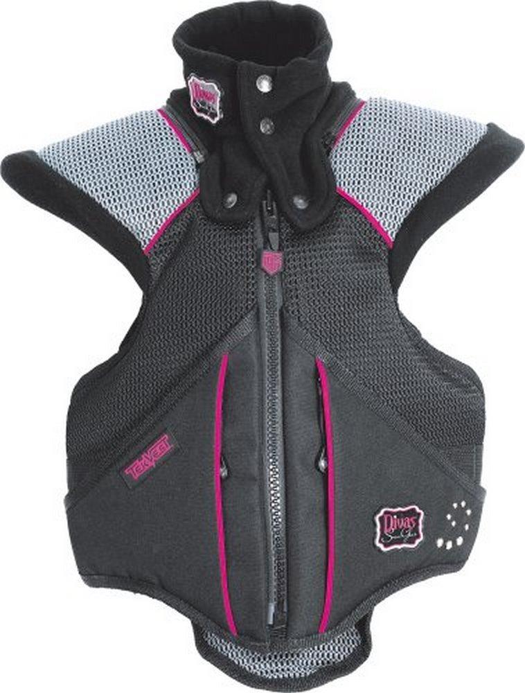 Divas Womens Super Sport Tek-Vest Protection Vest Black Pink XS/X-Small