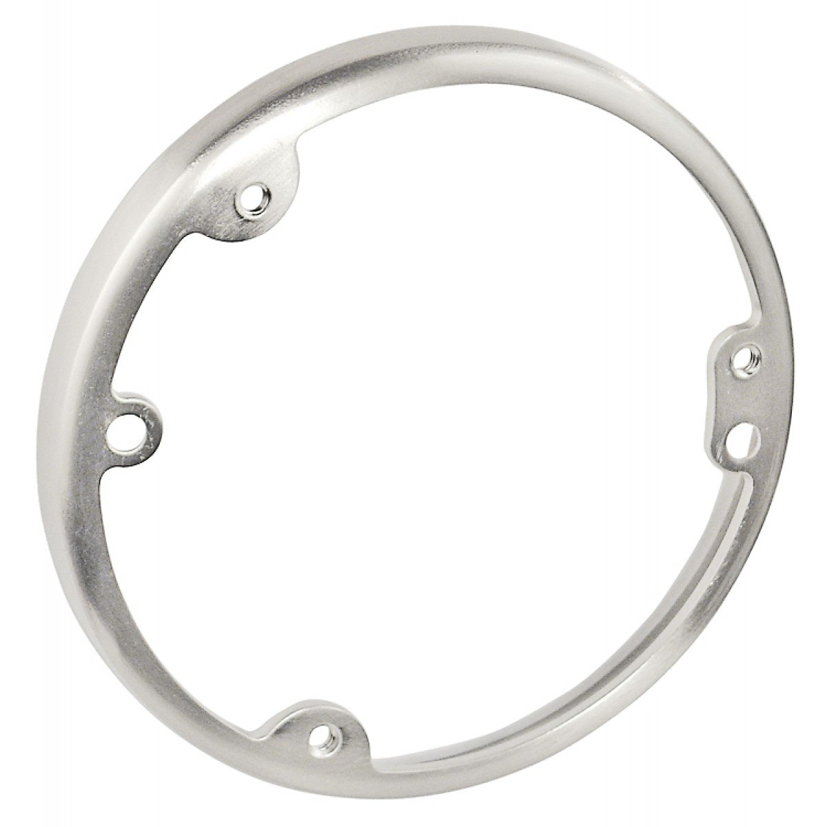 2 Pcs, 4-1/2 In Round Floor Flange, Stainless Steel Finish, Brushed Stainless for Use On 4-1/2In Round Concrete Floor Boxes