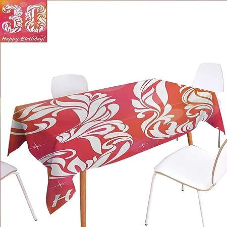 familytaste Mantel Impreso para 26 cumpleaños, diseño de ...
