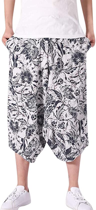Pantalones Hombre Verano Pantalones Anchos Holgados De AlgodóN De ...