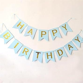 Amazon.com: Pancarta de felicitación de cumpleaños, diseño ...