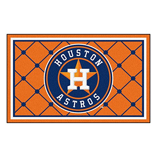 (FANMATS MLB Houston Astros Nylon Face 4X6 Plush Rug)