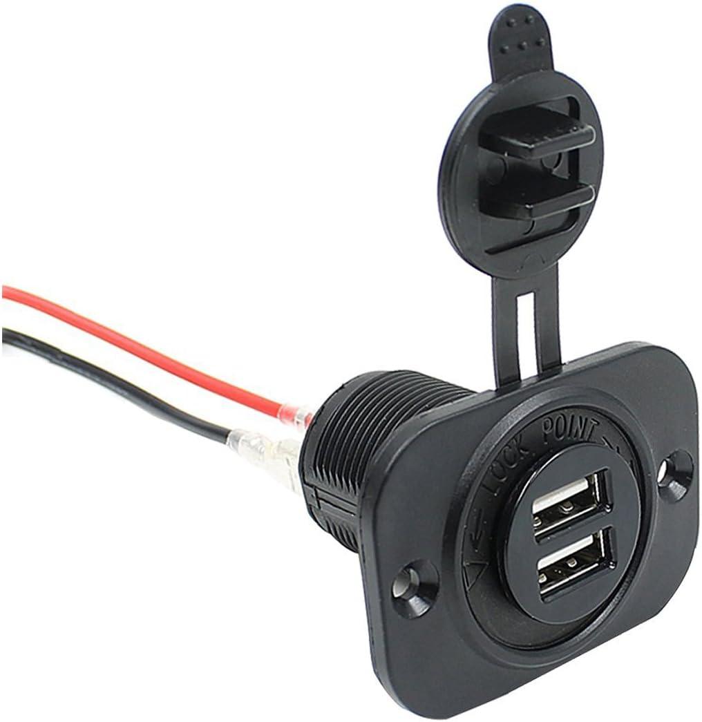 USB para encendedor de cigarrillos Coche Alimentación Cargador De Zócalo 5V-12V 12V Cable Adaptador