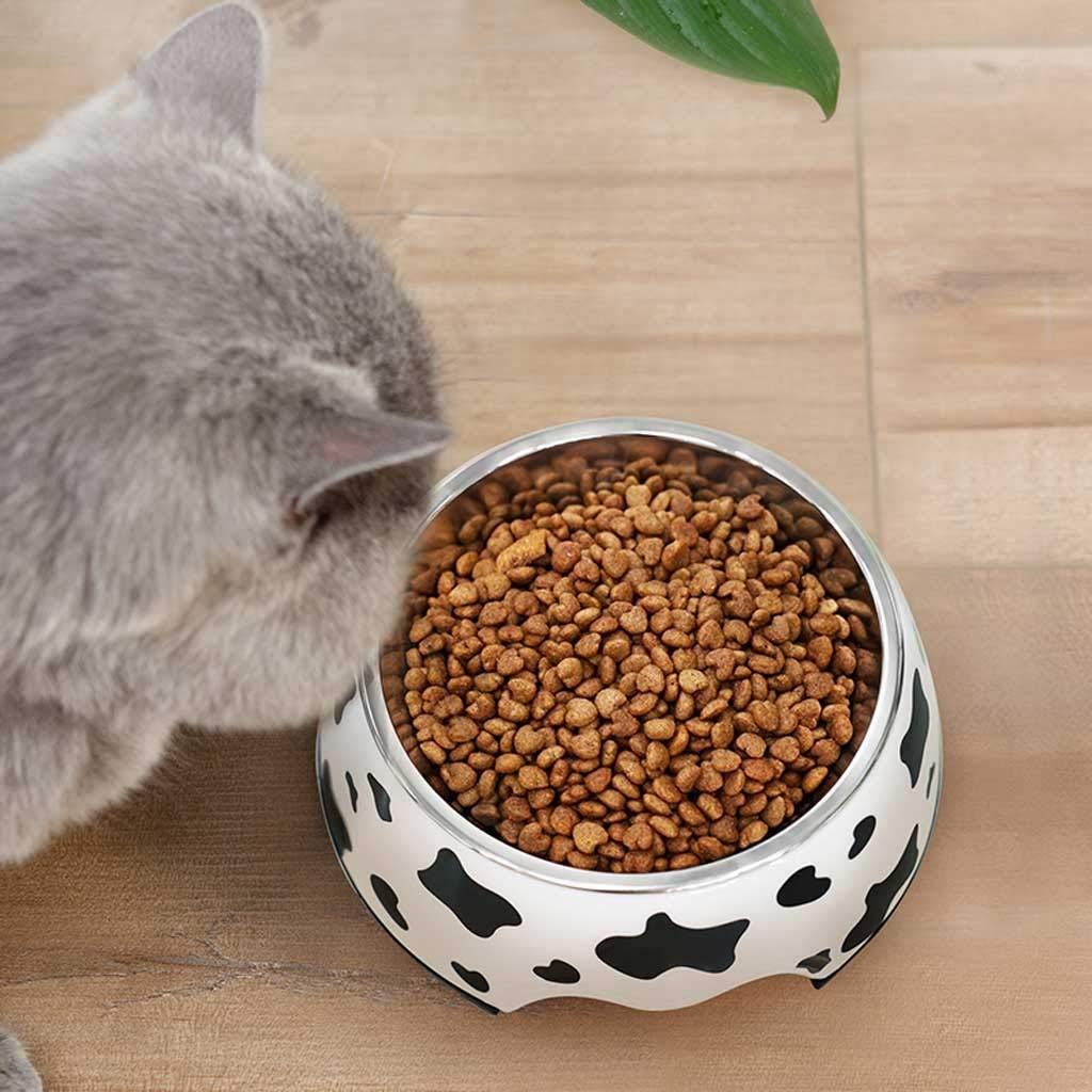 Size : S Tazza di Alimentazione del Gatto Cane dellAcciaio Inossidabile Acqua Ciotola Antiscivolo Gatti Ciotola con Cute Verniciato for I Piccoli Cani Gatti