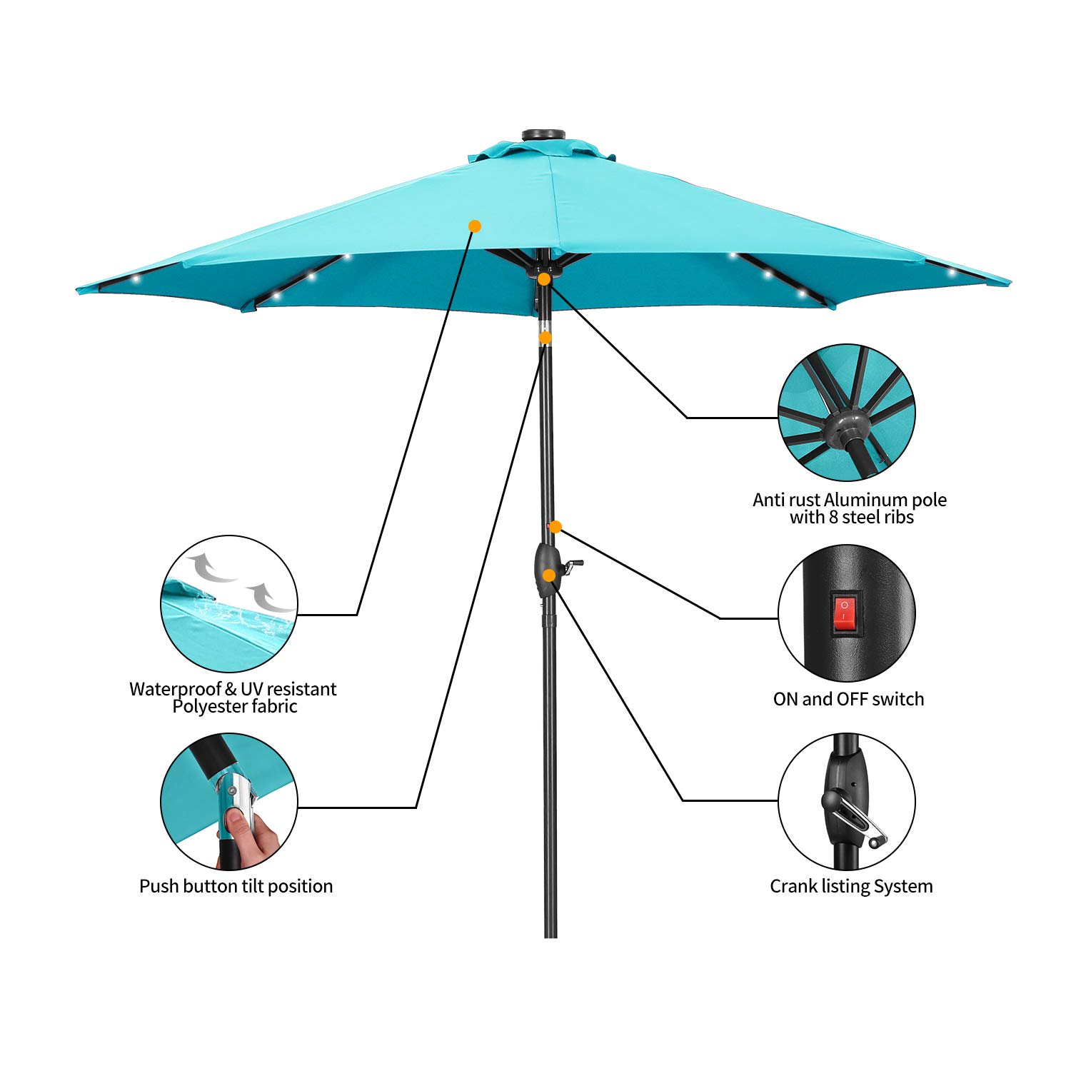 HYD-Parts Solar Umbrella