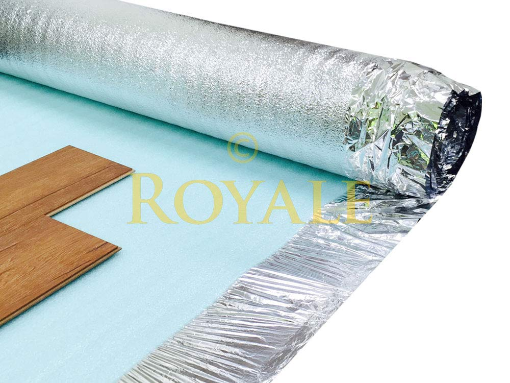 Royale 3mm Silver Laminate Wood Underlay 30m2 Deal Amazon Co Uk