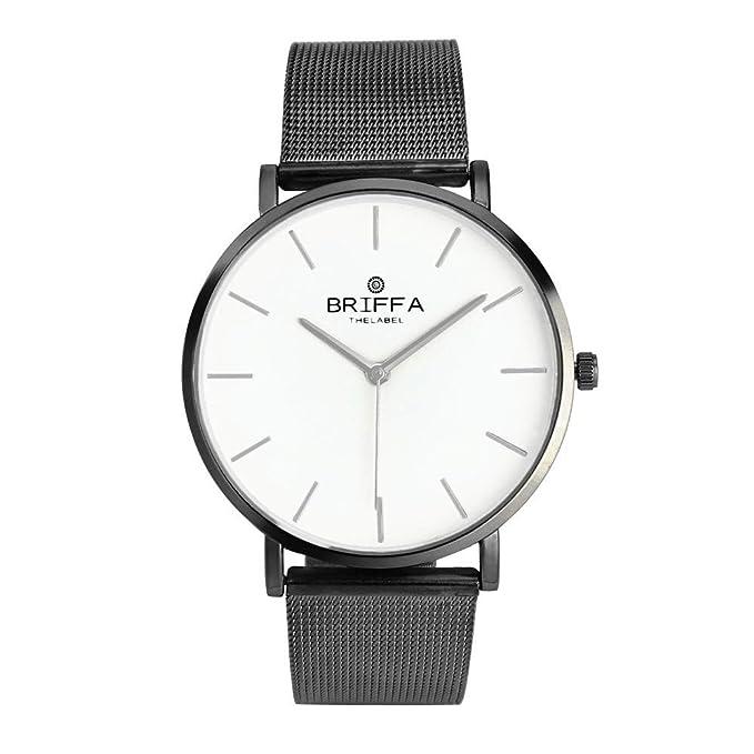 Darringls_Reloj BRIFFA,Moda Relojes Pareja Reloj de Pulsera de Cuarzo analógico de Acero Inoxidable con Diamantes para Hombre Mujeres imitación de Cristal: ...