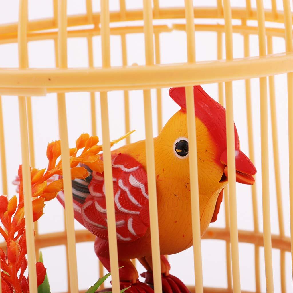 Juguete de Sonido Activado Pájaro Chirriando En Jaula - Sonidos Y ...