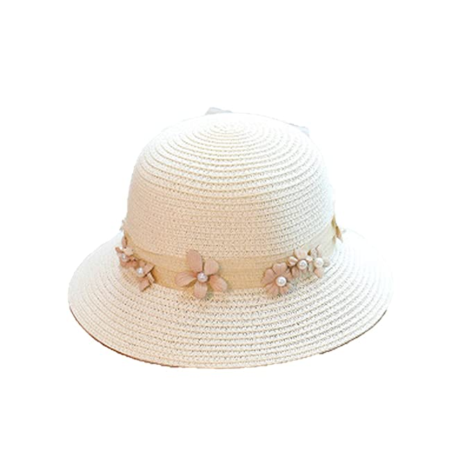 9afd30c3ffc43 Sun Pearls Straw Hat Boater Hat Girls Bow Hats for Women Beach ...