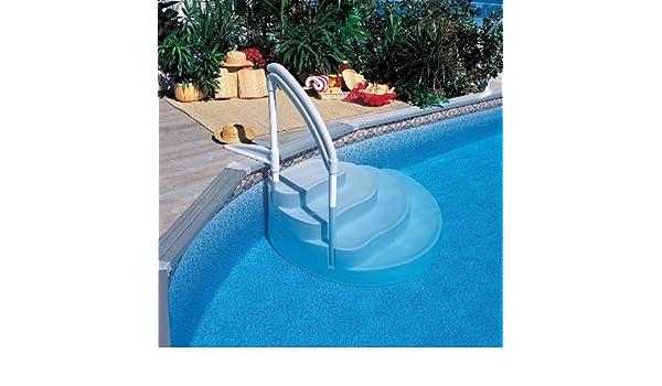 TOI - Piscina desmontable redonda modelo canarias + kit verano y tapiz - 640x120: Amazon.es: Juguetes y juegos