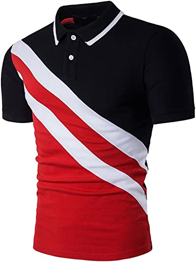 Fannyfuny camiseta Hombres Verano Manga Corta Polos Manga Corta Hombre Bordado de Ciervo Camisas Slim Fit Camiseta Deporte Golf Poloshirt Verano Primavera T-Shirt Oficina: Amazon.es: Ropa y accesorios