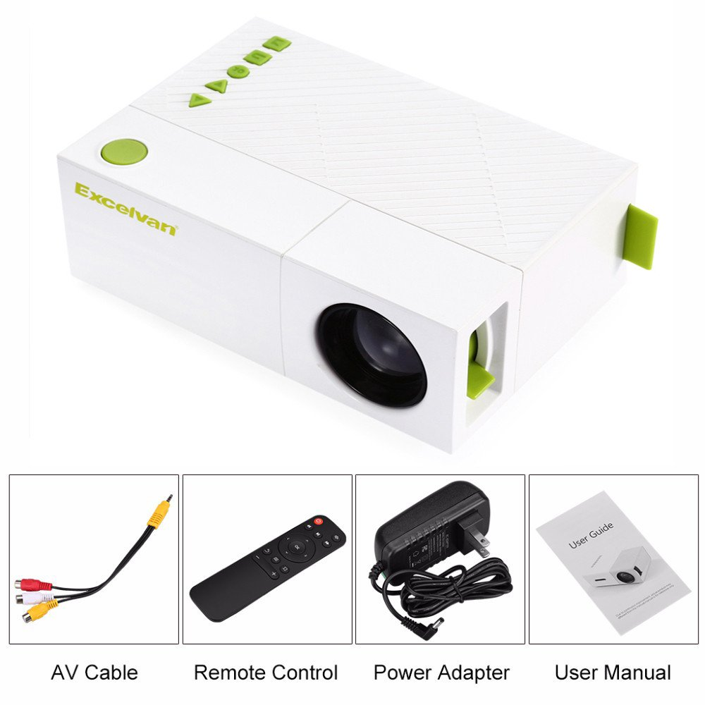 pqusno Portable LCD Projector,800Lumen AV USB HDMI Video LED Mini Media Player Smart Video Game TV Home Theater Movie by pqusno