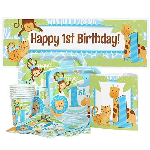 Safari 1st Birthday Blue Party Package for (Safari First Birthday)