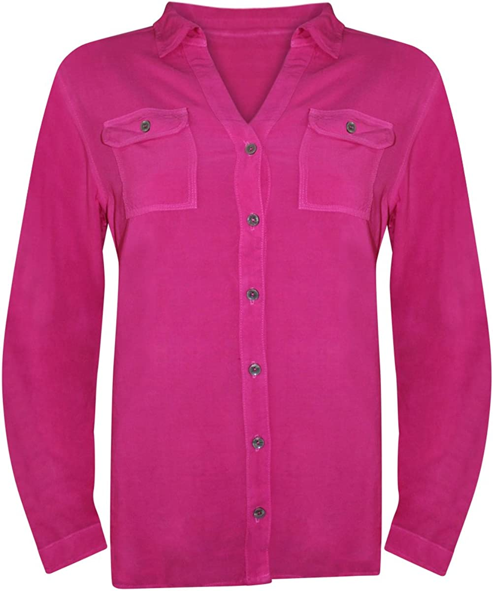 Fresh Produce Womens Local Roll Up Long Sleeve Shirt Cotton Clothing Top