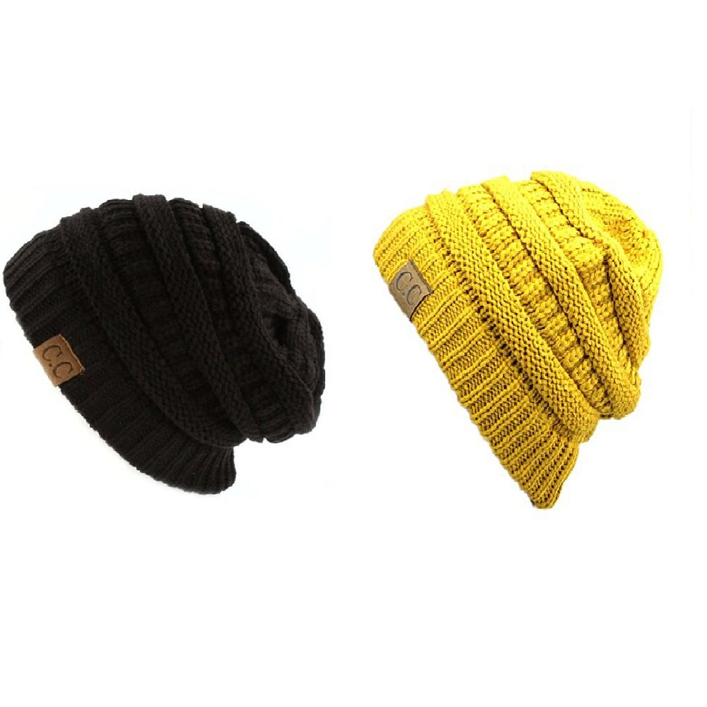 5dee93f9a35 Trendy Warm Chunky Soft Stretch Cable Knit Slouchy Beanie Skully HAT20A  (One Size