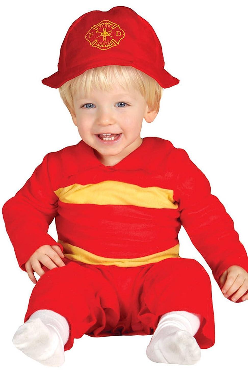 Guirca - Disfraz de bombero con traje y gorro, para niños de ...