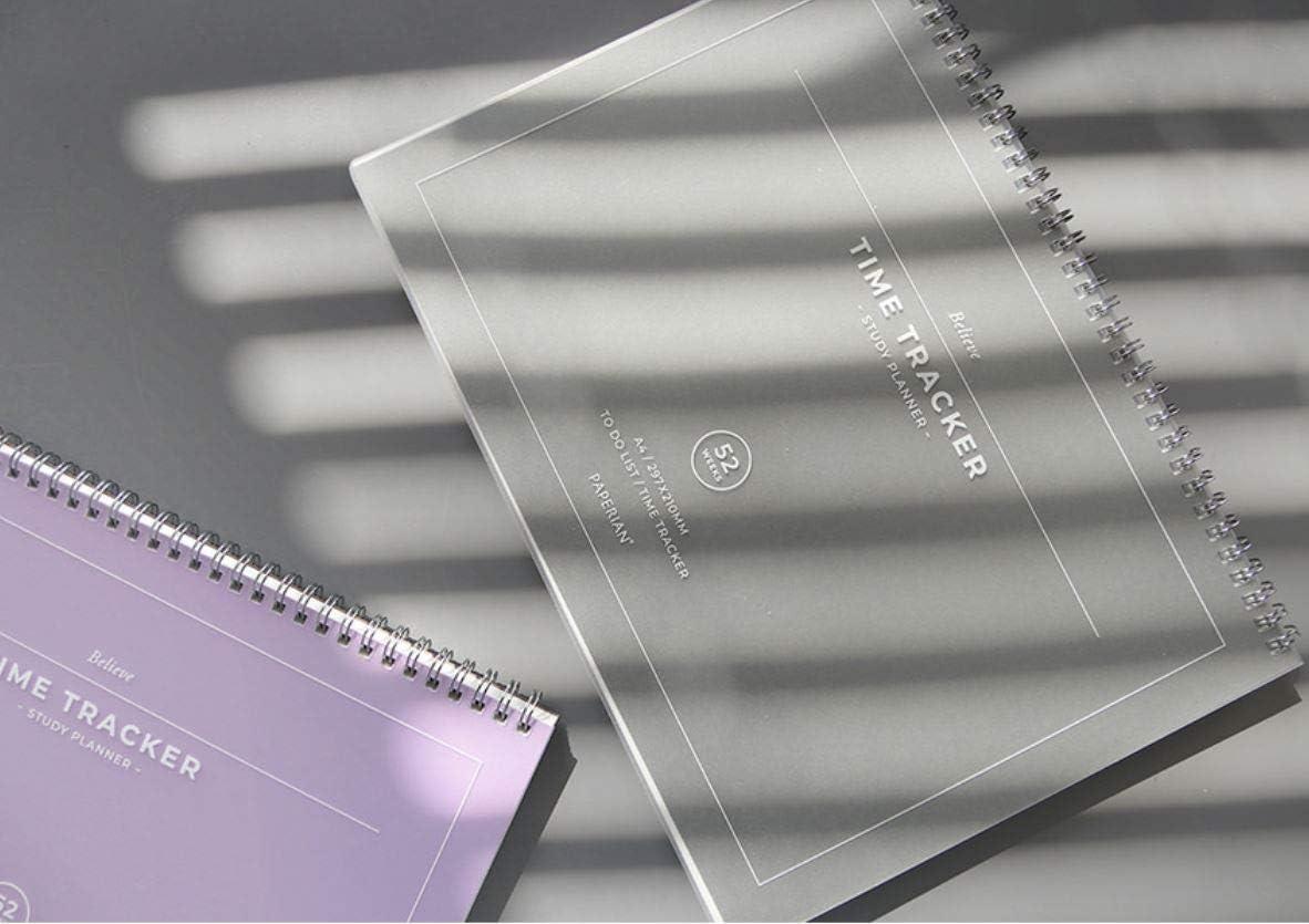 Paperan Believe Time Tracker Formato A4 con rilegatura a spirale lista delle cose da fare pianificatore rosa