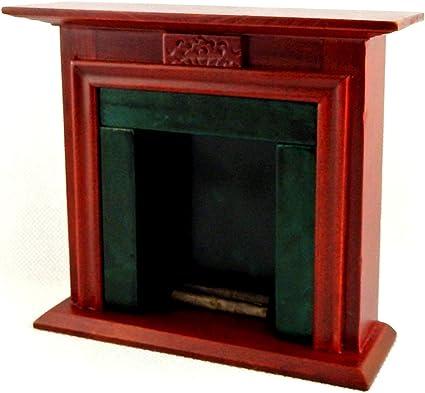 Cardboard model kit Scale 1//12. Fireplace Doll furniture
