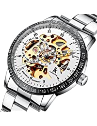 Multi Color Luxury Ik 98226 Stainless Steel Automatic Skeleton Mechanical Wristwatch Hollow Mens Watches Pbao Baby