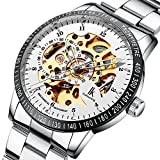 Multi Color Luxury Ik 98226 Stainless Steel Automatic Skeleton Mechanical Wristwatch Hollow Men's Watches Pbao Baby Carrier (Style11)
