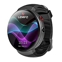 Orologio intelligente Lemfo LEM7 – Android 7.0 4 G LTE 2 MP fotocamera orologio cellulare ROM 16 GB Traduttore incorporato Bluetooth/GPS/cardiofrequenzimetro sport Smartwatches for Android iOS