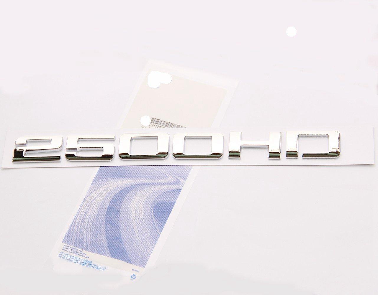 Yoaoo® 1pcs OEM Chrome 2500hd 2500 Hd Nameplate Emblem Alloy Badge for Gm Silverado Sierra 1 Pieces