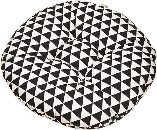 Cosanter Coussin Triangle A Carreaux Noir Et Blanc Coussin