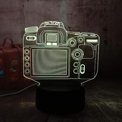 ARXYD Lámpara Led 3D Luz Nocturna Camara Digital-Optical Mesita De ...