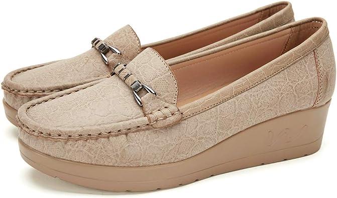 Cestfini Chaussures Bateau Confortables Femmes compensé