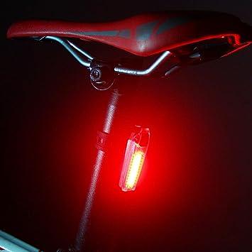 gaddrt batería bicicleta luz trasera bicicleta luces de seguridad ...