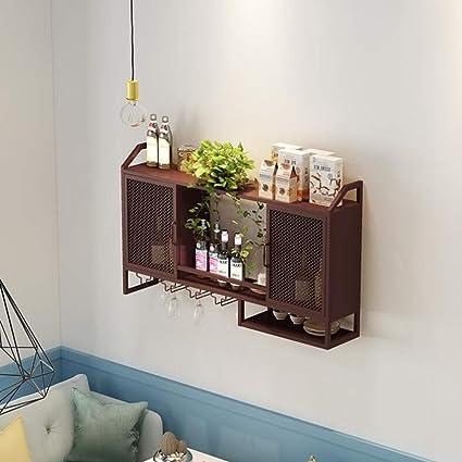 Amazon Com Zr Shelf Living Room Wall Hanging Wine Cabinet