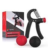 Bundle Deal - Grip Strengthener + 2 Grip Balls + FREE eBook - Hand Gripper, Strengthen Grip, Hand Squeezer, Forearm Grip, Finger Strengthener, Hand Exercise, Gripper, grip strength - from Nyma